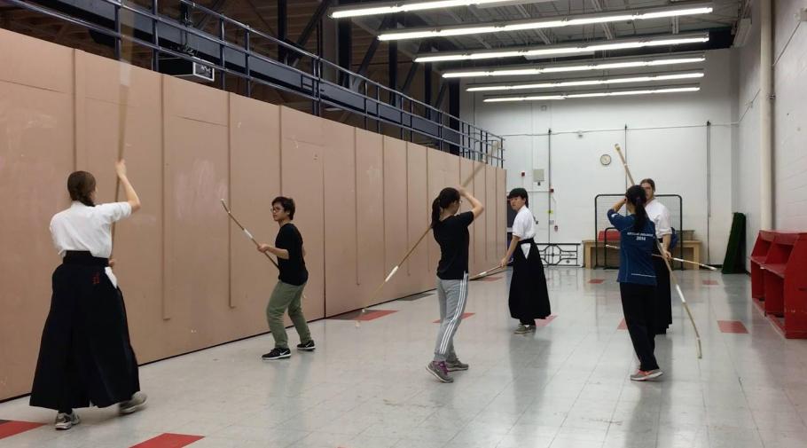 Temporary Practice Space (ltr: M. Landekic, S. Zhou, C. Wang, W. Choi, H. Liu, S. Bruins)
